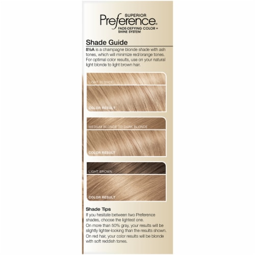 L'Oreal Paris Preference 8.5A Champagne Blonde Hair Color Perspective: left