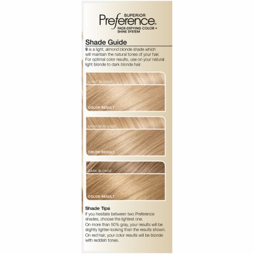 L'Oreal Paris Superior Preference Natural Blonde 9 Hair Color Perspective: left
