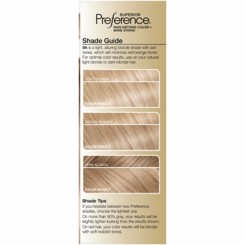 L'Oreal Paris Superior Preference Fade-Defying Shine Permanent Hair Color 9A Light Ash Blonde Perspective: left