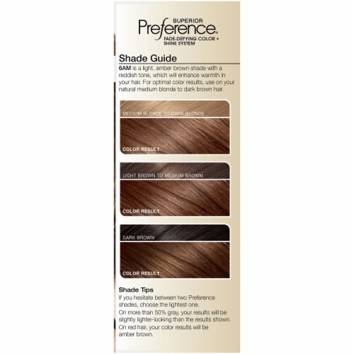 L'Oreal Paris Superior Preference Permanent Hair Color Kit - 6AM Light Amber Brown Perspective: left