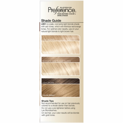 L'Oreal Paris Preference LB01 Extra Light Ash Blonde Hair Color Perspective: left