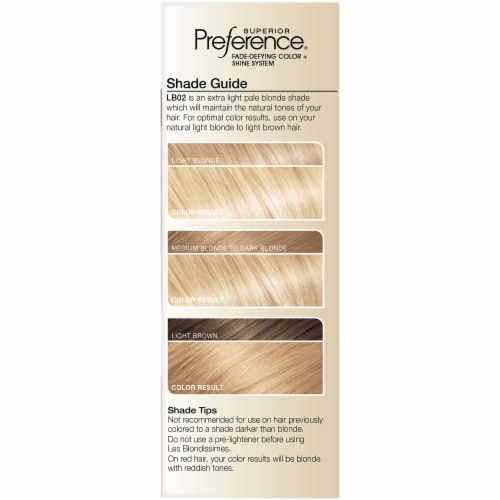 L'Oreal Paris Preference LB02 Extra Light Natural Blonde Hair Color Perspective: left