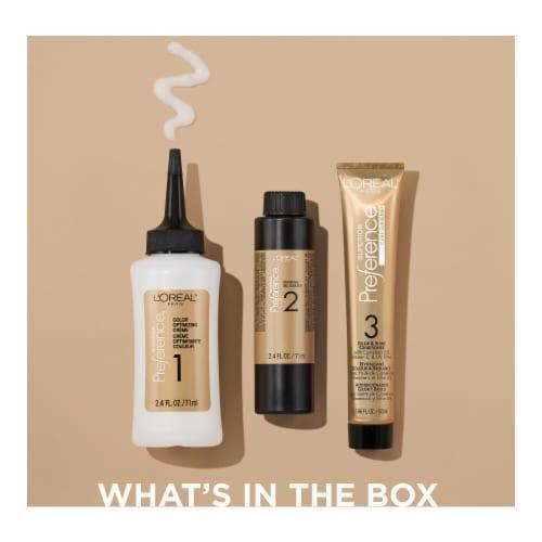 L'Oreal Paris Superior Preference Cool Darkest Brown 3C Hair Color Perspective: left