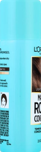 L'Oreal Paris Magic Root Cover Up Light Brown Temporary Gray Concealer Spray Perspective: left