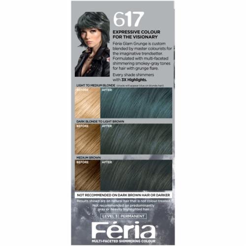L'Oreal Paris Feria 617 Vintage Teal Hair Color Perspective: left