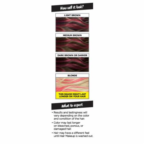 L'Oreal Paris Colorista 1-Day Raspberry 10 Hair Color Perspective: left