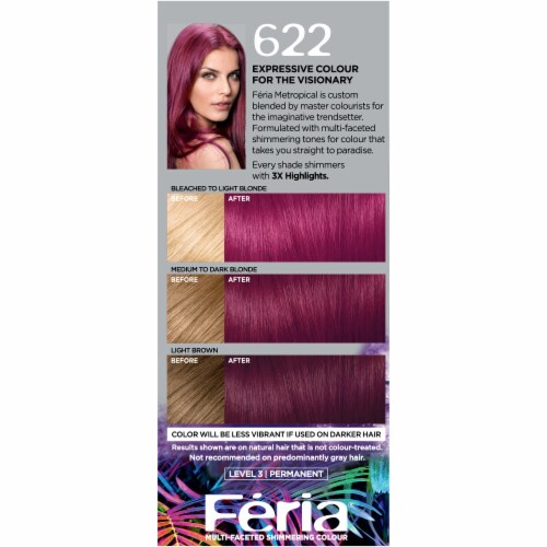L'Oréal Paris Feria Multi-Faceted Shimmering Fuchsia-Cha Permanent Hair Color Perspective: left
