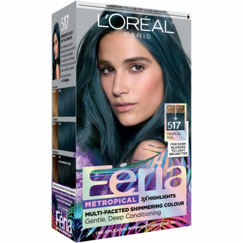 L'Oreal Paris Feria Metropical Tropical Teal Permanent Hair Color Perspective: left