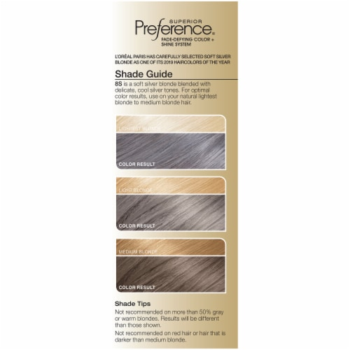 L'Oreal Paris Superior Preference Soft Silver Blonde Permanent Hair Color Perspective: left