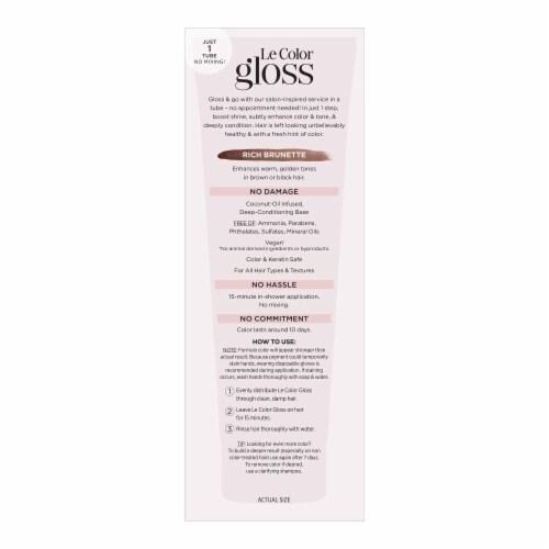 L'Oreal Paris Le Color Gloss Rich Brunette Temporary Hair Color Perspective: left