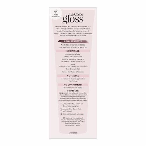 L'Oreal Paris Le Color Gloss Cool Brunette Temporary Hair Color Perspective: left