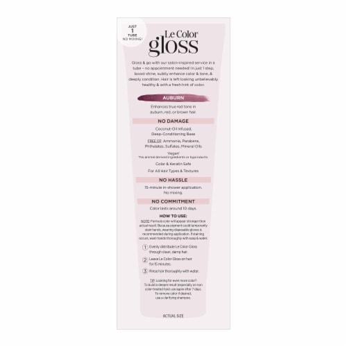 L'Oreal Paris Le Color Gloss Auburn Temporary Hair Color Perspective: left