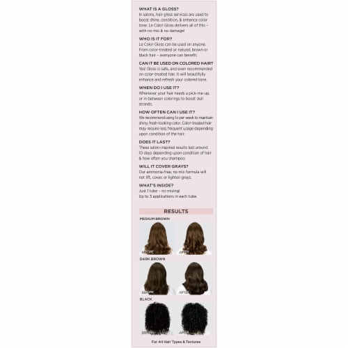 L'Oreal Paris Le Color Gloss Black Temporary Hair Color Perspective: left