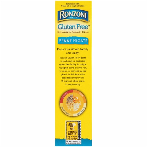 Ronzoni Gluten Free Penne Rigate Pasta Perspective: left