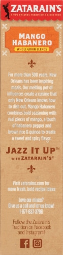 Zatarain's Whole Grain Blends Mango Habanero Rice & Quinoa Perspective: left