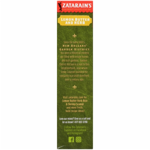 Zatarain's Garden District Kitchen Lemon Butter and Herb Brown Rice with White Beans Perspective: left