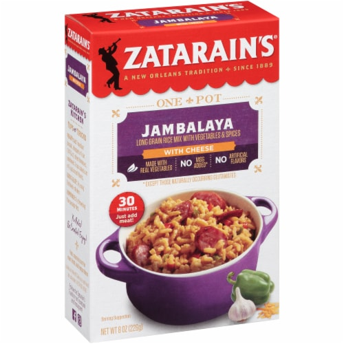 Zatarain's One Pot Jambalaya with Cheese Rice Mix Perspective: left