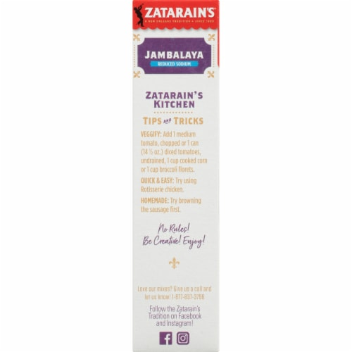 Zatarain's® Reduced Sodium Jambalaya Mix Perspective: left