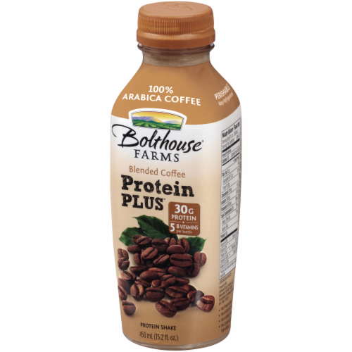 Bolthouse Farms Blended Coffee Protein Plus Shake Perspective: left