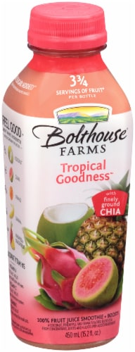 Bolthouse Farms Tropical Goodness with Chia Fruit Juice Smoothie Perspective: left