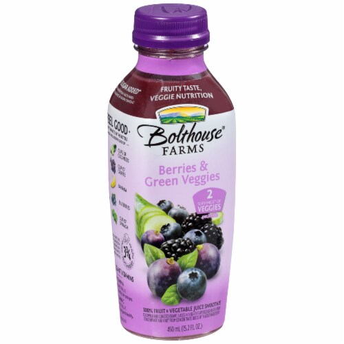 Bolthouse Farms Berries & Green Veggies Juice Smoothe Perspective: left