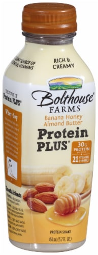 Bolthouse Farms Protein Plus Banana Honey Almond Butter Protein Shake Perspective: left