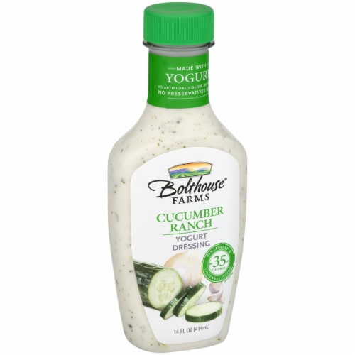 Bolthouse Farms Cucumber Ranch Yogurt Salad Dressing Perspective: left