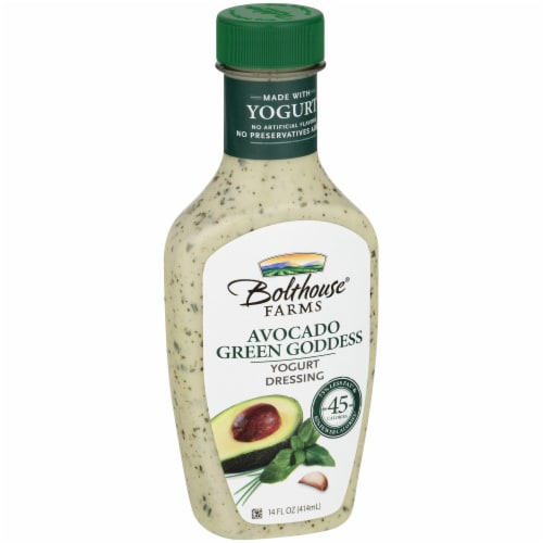 Bolthouse Farms Avocado Green Goddess Yogurt Dressing Perspective: left