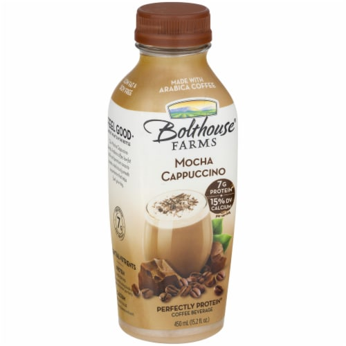 Bolthouse Farms Mocha Cappucino Protein Coffee Beverage Perspective: left