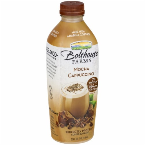 Bolthouse Farms Mocha Cappuccino Protein Coffee Beverage Perspective: left