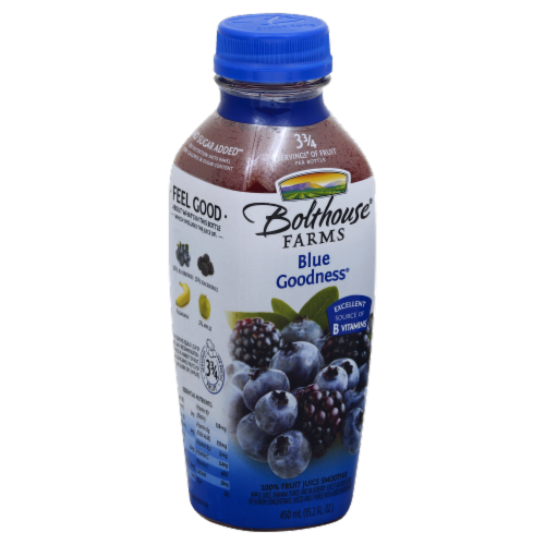 Bolthouse Farms Blue Goodness Fruit Juice Smoothie Perspective: left