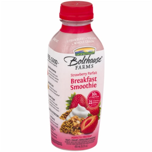 Bolthouse Farms Strawberry Parfait Breakfast Protein Smoothie Perspective: left