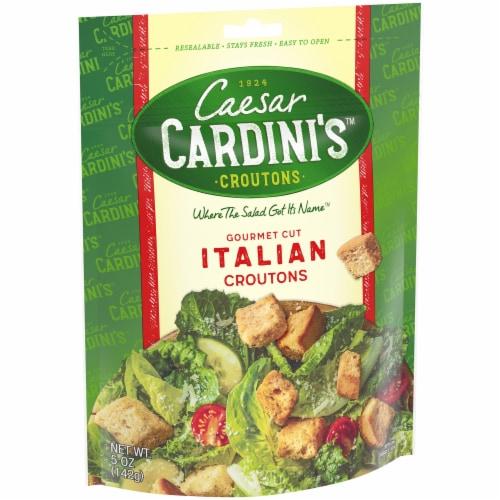 Cardini's Gourmet Cut Italian Croutons Perspective: left