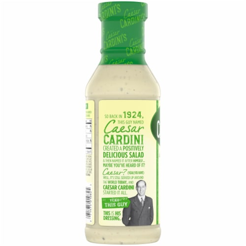 Cardini's Original Caesar Salad Dressing Perspective: left