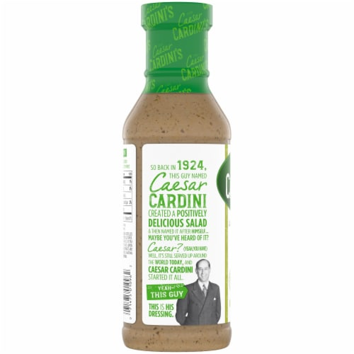 Cardini's Light Greek Vinaigrette Salad Dressing Perspective: left