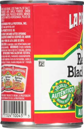 La Preferida Authentic Refried Black Beans Perspective: left