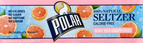 Polar Ruby Red Grapefruit Seltzer Perspective: left