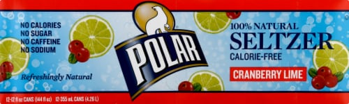 Polar Cranberry Lime Seltzer Perspective: left