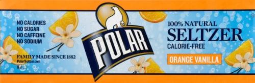 Polar Orange Vanilla Seltzer Water Perspective: left