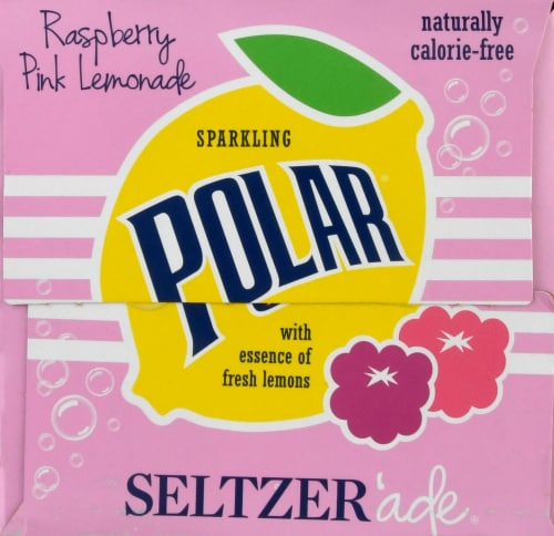 Polar Raspberry Lemonade Seltzer Perspective: left