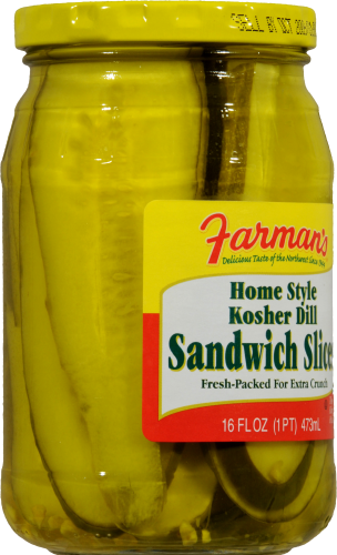 Farman's Kosher Dill Sandwich Slicers Perspective: left