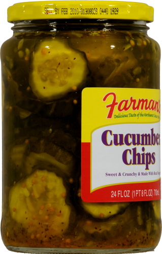 Farman's Cucumber Chips Perspective: left