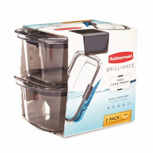 Rubbermaid Brilliance Small Food Containers - Clear Perspective: left