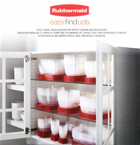 Rubbermaid Easy Find Lids Food Storage Containers Set Perspective: left