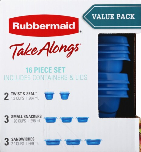 Rubbermaid TakeAlongs Food Containers & Lids - Aqua/Clear Perspective: left