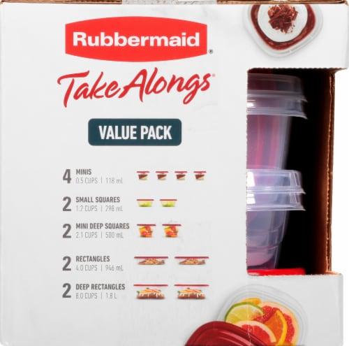 Rubbermaid Take Alongs Container Value Pack - Ruby Perspective: left