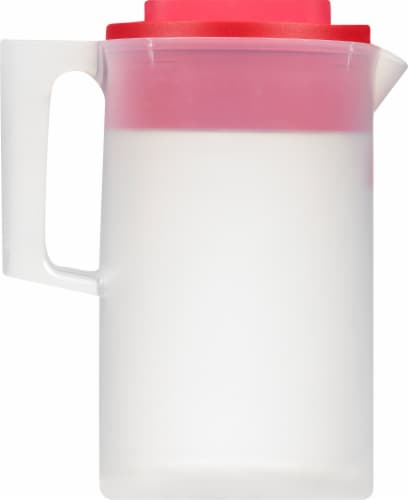Rubbermaid Simply Pour Pitcher - Clear/Red Perspective: left
