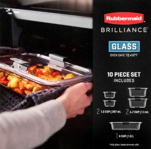 Rubbermaid Brilliance Glass Storage Container Set Perspective: left