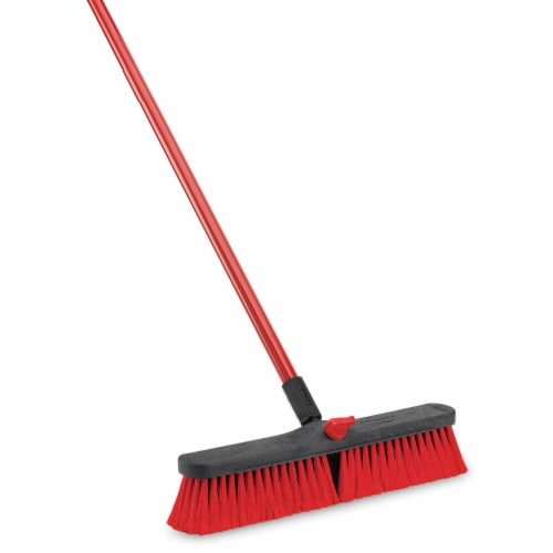 Libman® Multi-Surface Push Broom - Red - 18 Inch Perspective: left