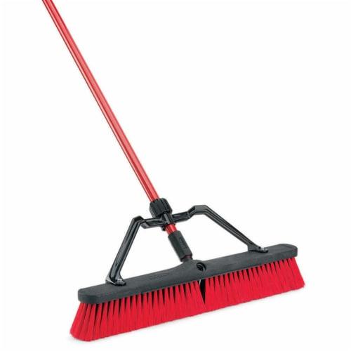 Libman® Heavy-Duty Outdoor Broom - Red/Black Perspective: left